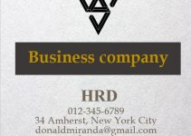 Business Card template free word template