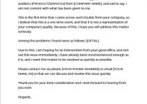 Business Complaint Letter in word design