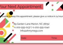 appointment card template free download psd