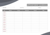 appointment schedule template free word template