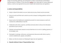 artist management contract template in word design