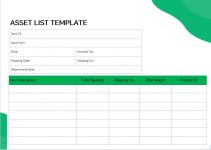 asset list template in word free download