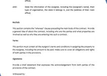 assignment contract template free word template