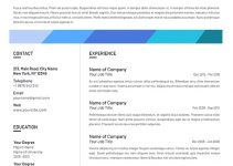 athletic resume template free download psd