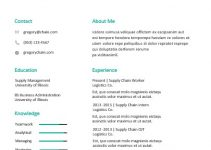 ats resume template in word design