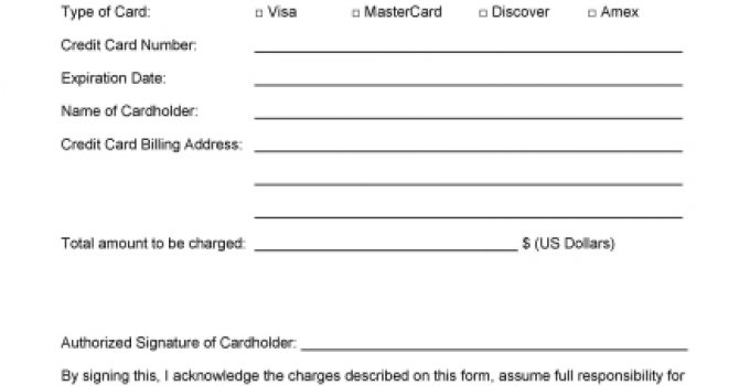 authorization form template template free