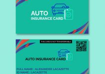 auto insurance card template free download psd