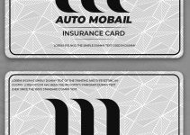 automobile insurance card template in photoshop free download