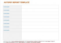 autopsy report template free word template
