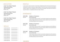 aviation resume template free download psd