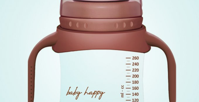 baby bottle template free psd template
