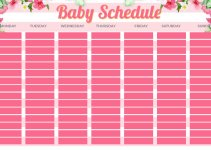 baby schedule template in photoshop