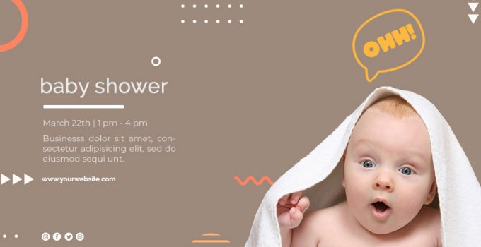 baby shower banner in photoshop free download