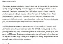 113. Retirement Letter to Employer