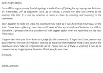 171. Apology Letter to Court