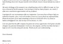 189. Resignation Letter Due to Schedule Conflict