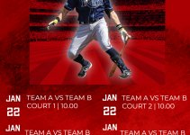baseball schedule template in photoshop