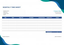 basic monthly timesheet template in word free download