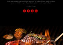 bbq flyer template in photoshop