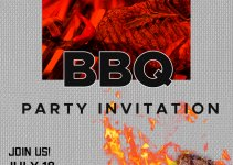 bbq invitation template in photoshop free download