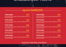 bbq menu template in photoshop free download