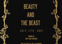 beauty and the beast invitation template free psd template