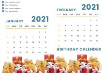 birthday calendar template in photoshop free download