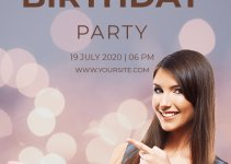birthday invitation template in photoshop free download