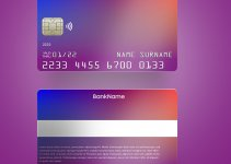 blank credit card template in photoshop