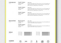 blank resume template free psd template