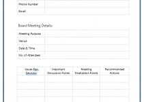 board meeting minutes template in word design