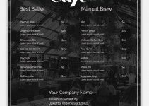 cafe menu template in photoshop free download