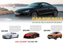 car for sale flayers template free download psd