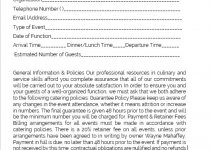 caterer contract template in word design