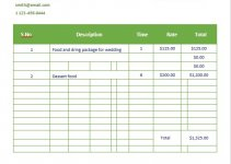 catering invoice template in word design