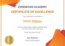 certificate of excellence template example word design