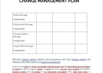change management plan template example word design