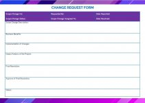 change requests template free word template
