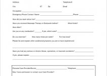 massage intake form template example word design 1