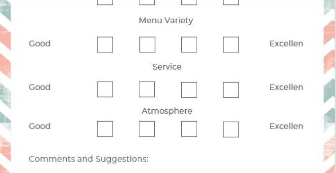 comment card template free word template