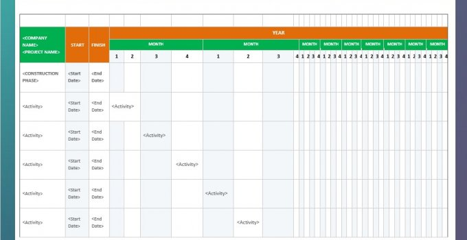 commercial construction schedule free download word