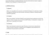company policy template free word template