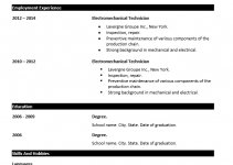 basic resume template for job seekers