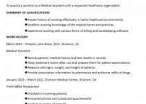 Medical Clinical Assistant Resume