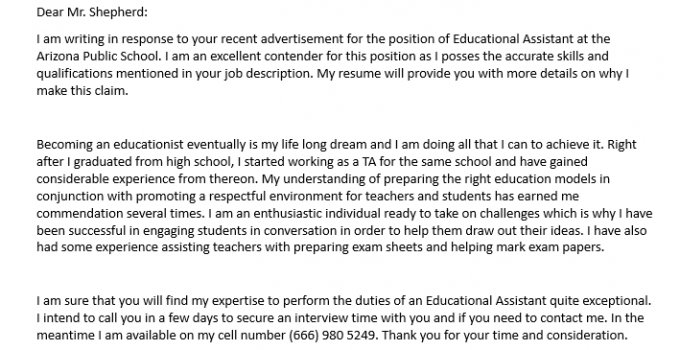Education Assistant Resume Cover Letter.DOC